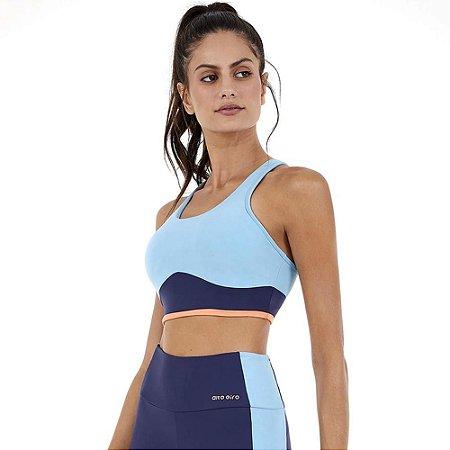 Top Fitness Blackout Bio Nadador Azul Alto Giro