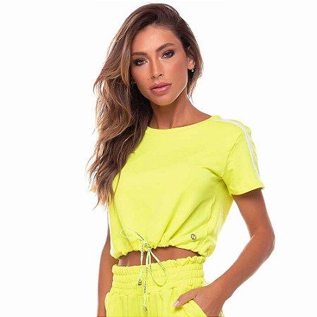 Blusa Feminina Hollywood Amarelo Neon VESTEM