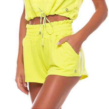 Shorts Feminino Telegrafh Amarelo Neon VESTEM