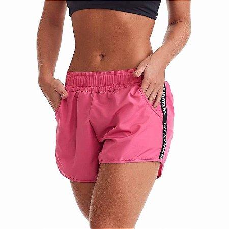 Shorts Feminino Fitness Run Rosa CAJUBRASIL
