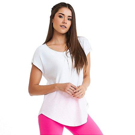Blusa Feminina T-shirt Premium Classic 9923 Branco CAJUBRASIL