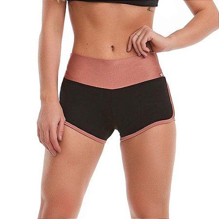 Shorts Fitness Feminino Memories Preto CAJUBRASIL
