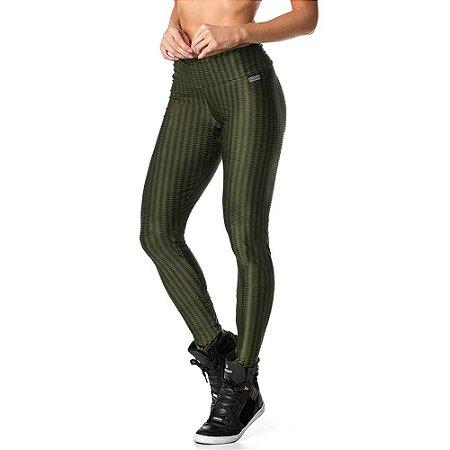 Calça Legging Fusô Zig Verde Militar VESTEM