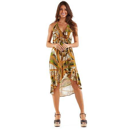 Vestido Cachecouer Estampado Palmeira MAR RIO