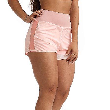 Shorts Feminino Fitness Sweet Rosa CAJUBRASIL