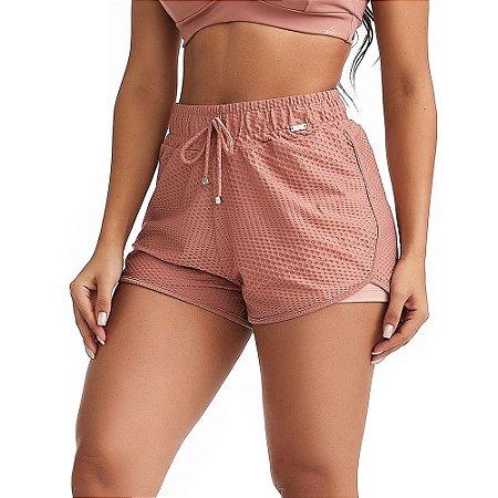 Shorts Fitness Stylish Rosa CAJUBRASIL