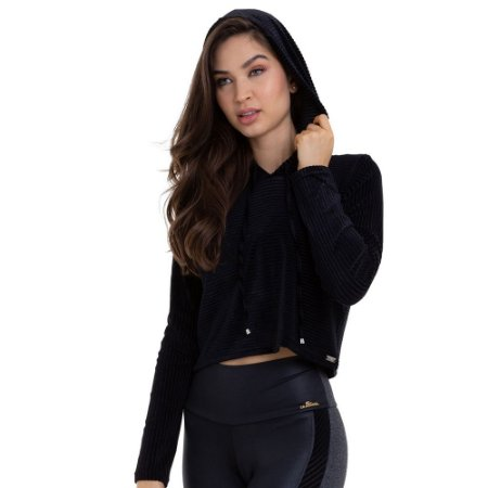 Cropped Fitness Majesty Preto CAJUBRASIL