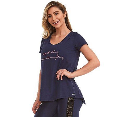 Blusa T-Shirt Feminina Everything Azul CAJUBRASIL