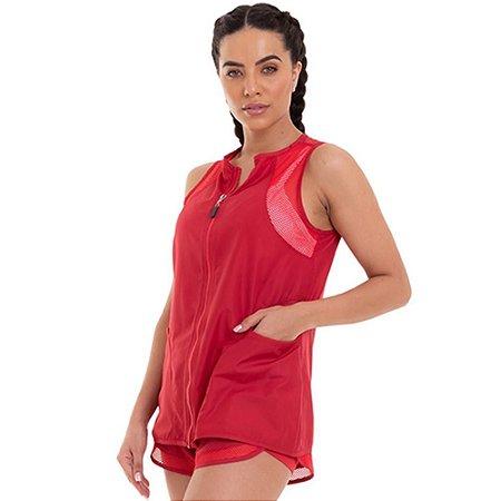 Colete Fitness Feminino Running Vermelho CAJUBRASIL