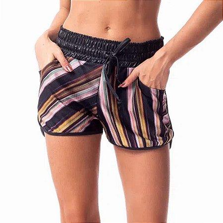 Shorts Feminino Running Canelle SH220.001 Estampado VESTEM
