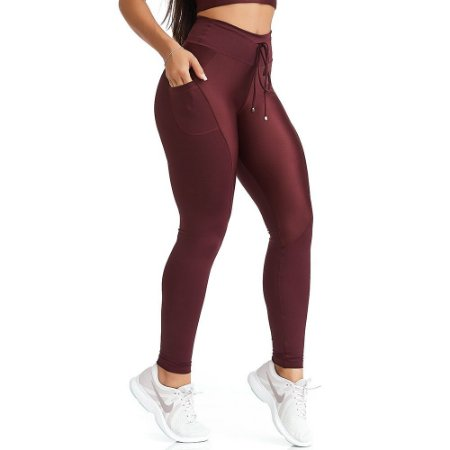 Calça Legging NZ UP Bordô CAJUBRASIL