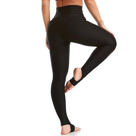Calça Legging Básica Yoga Preta CAJUBRASIL