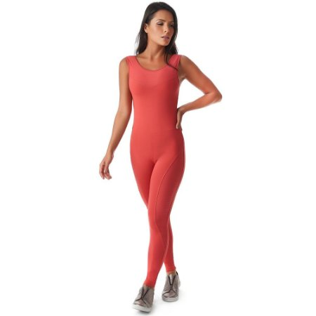 Macacão Fitness Anitta Rosa Madras VESTEM