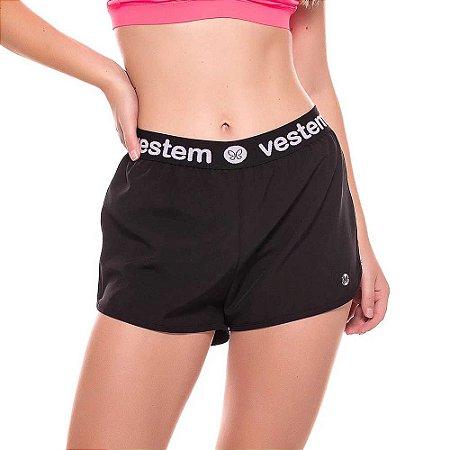 Shorts Fitness Feminino New Rock Preto VESTEM