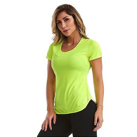 Blusa Feminina T-Shirt Lite Básica Verde CAJUBRASIL
