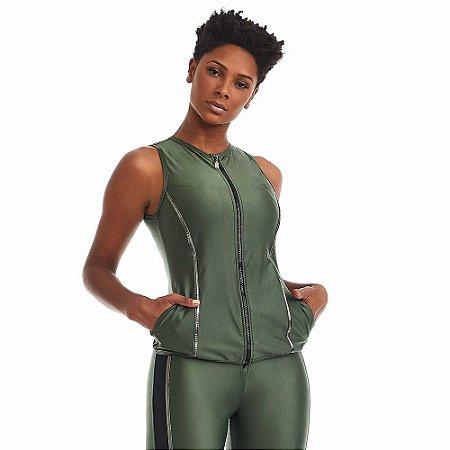 Colete Fitness Silver Verde CAJUBRASIL