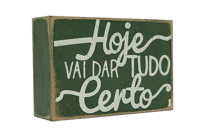 Quadro Box – Hoje 10×15