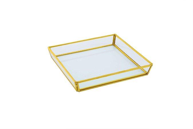 Bandeja quadrada de vidro M