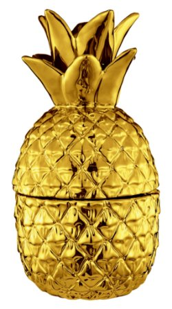 Pote Abacaxi Dourado em Ceramica