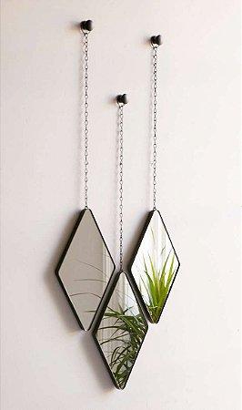Trio de Espelhos Dima Preto