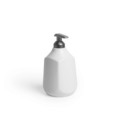 Dispenser Para Sabonete Líquido em Cerâmica-Branco Mate