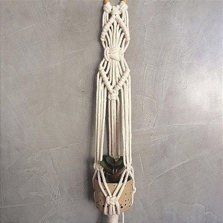 Mini Hanger de Macramê para Plantas Cru