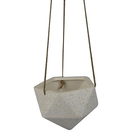 Pendente com cachepô de Cerâmica Geométrico