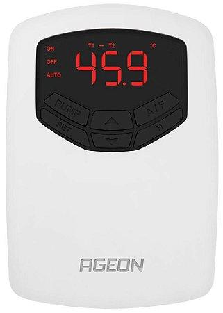 T102 AutomaSet Controlador por Temperatura Ageon 1 sensor e 1 relé
