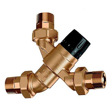 5200 Misturadora Termostática CALEFFI (35-65ºC) com Função de Fecho Térmico, Válvulas de Retenção e Filtros