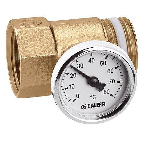 392 Termômetro D40 80°C com União MF CALEFFI União Porta-termômetro