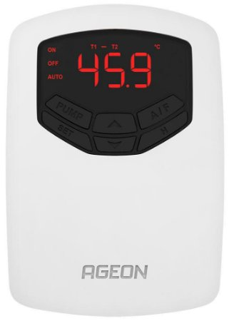 AutomaSol TDI Controlador Solar Térmico por Diferencial de Temperatura Ageon, CDT com 1 relé