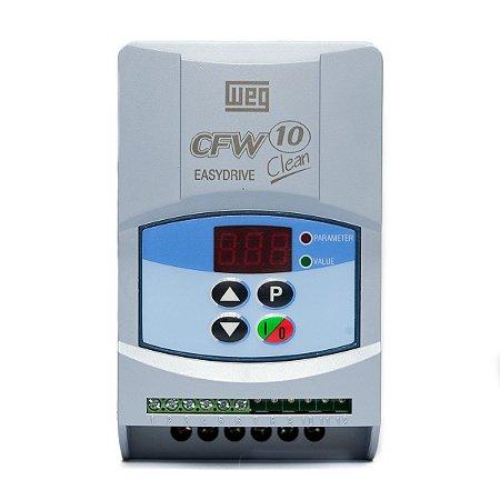 Inversor de Frequência Weg CFW10 Clean 220V 4A 1CV Mono