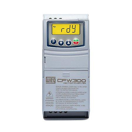 Inversor de Frequência Weg CFW300 Mono 1CV 4,2A 220V