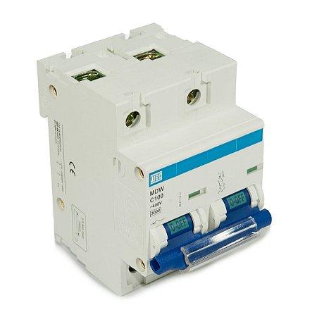 Mini Disjuntor Bipolar MDW-C100-2 100A Curva C 5KA Weg