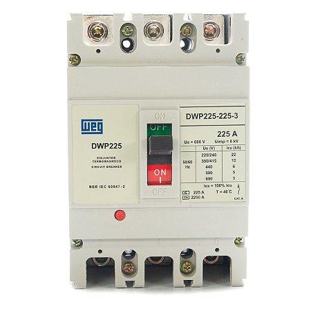 Disjuntor Caixa Moldada tripolar DWP225-225-3 225A Weg