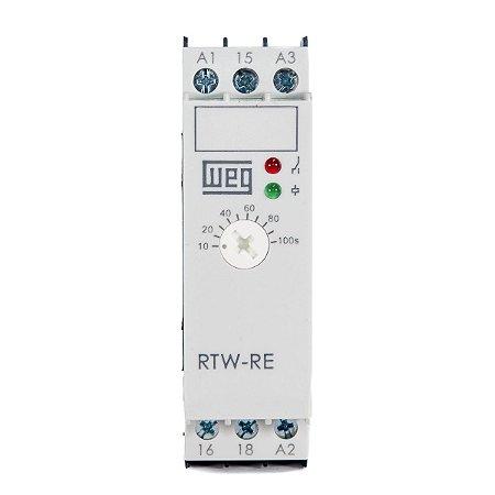 Relé de Tempo Weg RTW-RE Retardo na Energ.10-100s 220v/24vdc