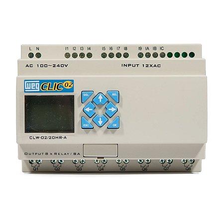 Controlador Logico Programavel CLW-02 20HR-A 3RD Clic02 127/220Vca Weg