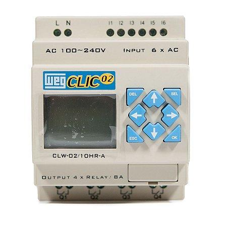 931eaf49102 Controlador Logico Programavel CLW-02 10HR-A 3RD Clic02 127 220Vca Weg