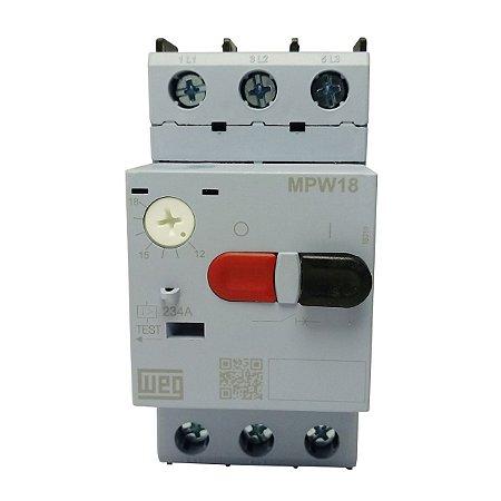 Disjuntor Motor Weg MPW18 Ajuste 12-18A