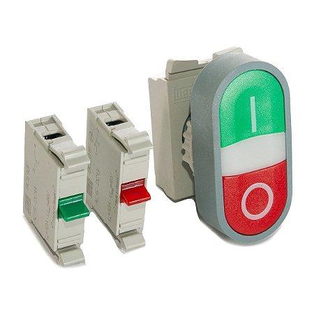 Botão Duplo CEW-BDM-11000000 Liga-Desliga sem Iluminação 1NA+1NF Weg
