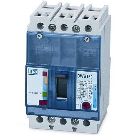 Disjuntor Caixa Moldada Tripolar Weg DWB160N-20-3DX 20A