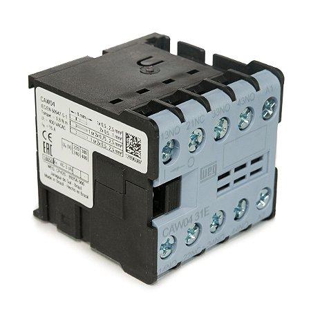 Mini Contator Tripolar AZ CAW04-31-00 6A 3NA+1NF 220Vac Weg
