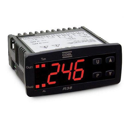 Controlador de Temperatura R38HFOR 100 a 240Vca/Vcc Coel
