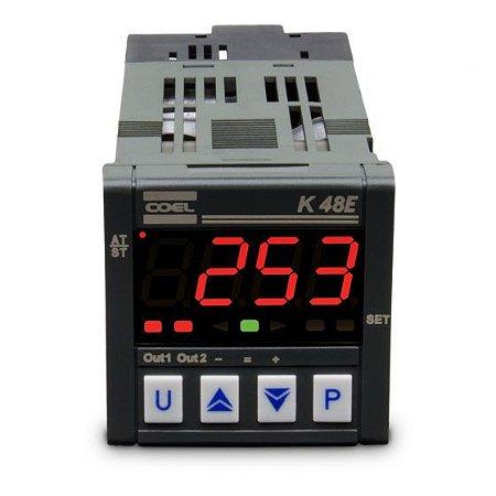 Controlador Digital Temperatura K48E 100-240VCA TC-PT100-MV
