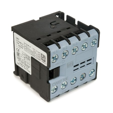 Mini Contator Tripolar Weg 7A CW07-10-30V25 220Vac 1NA Azul