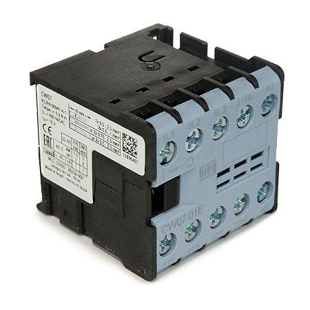 Mini Contator Tripolar 7A CW07-01-30V16 110VAC 1NF Azul Weg