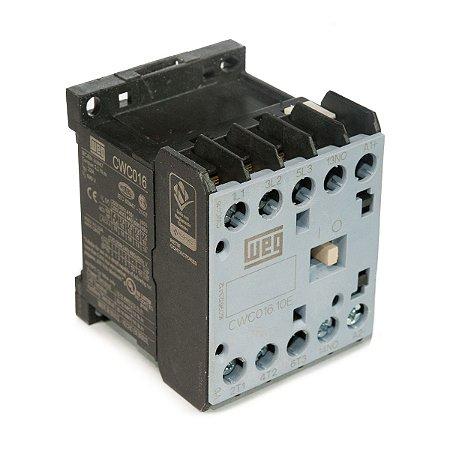 Mini Contator Tripolar AZ CWC016-10-30C03 16A 24VDC 1NA Azul Weg