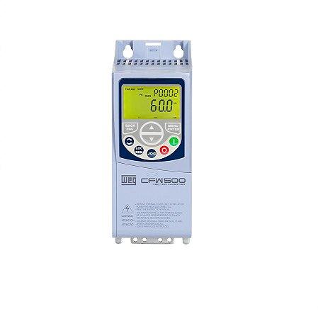 Inversor de Frequência Weg CFW500 Tri 0,75cv 1,6A 380V ou 440V C/P-IOS