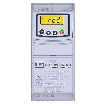 Inversor de Frequência Weg CFW300 Mono 0,5cv 2,6A 220V