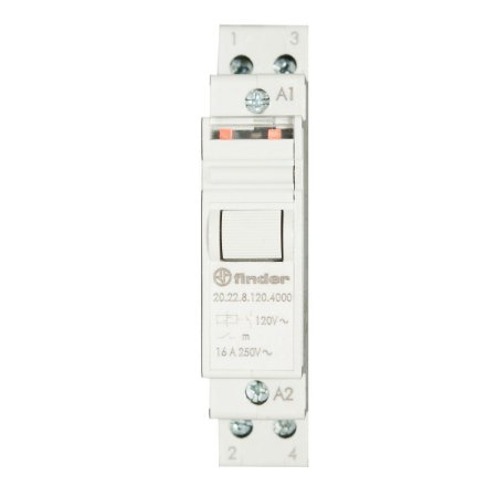 Relé de Impulso Modular 16A 2NA 120V AC Finder